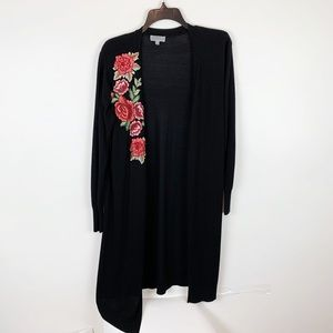 JOSEPH A. EMBROIDERED LONG CARDIGAN SIZE L